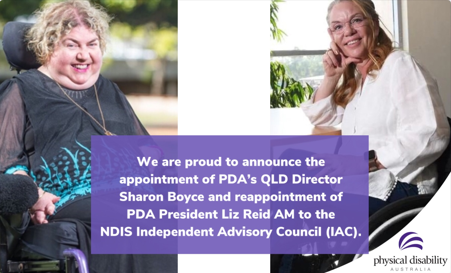 PDA continues to be a recognised and strong voice for Australians living with physical disability
