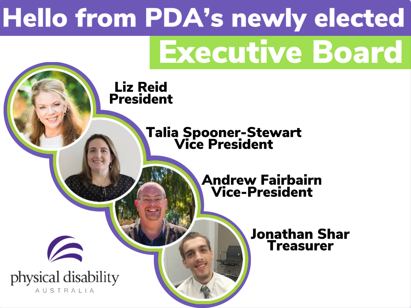 Announcing PDA's newly elected Executive Board