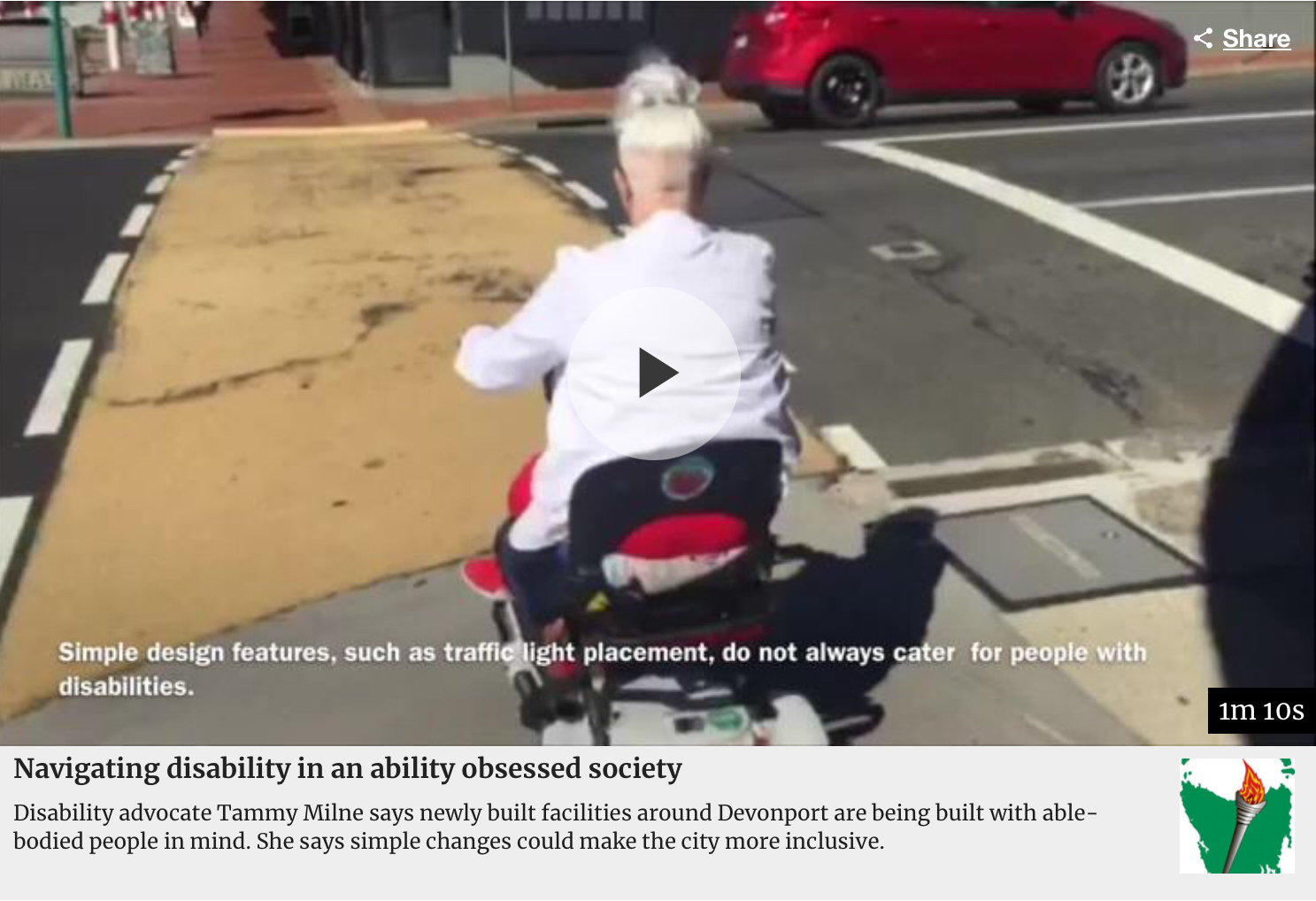 PDA's TAS Associate Director Tammy Milne is on a quest to improve disability access.